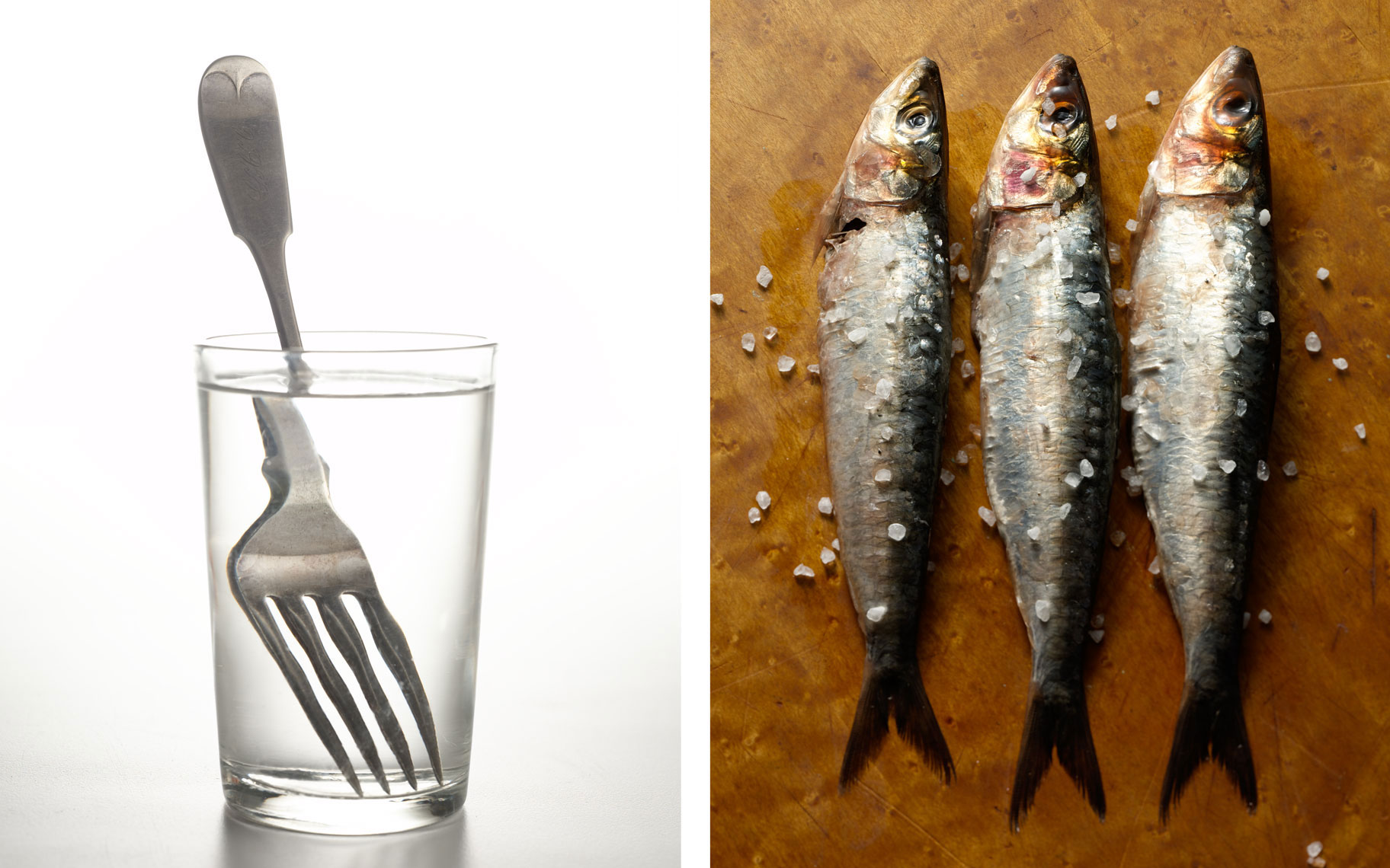 water-with-fork-sardines